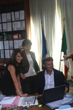Lorenza Indovina, Michela Cescon e Massimiiano Virgilii